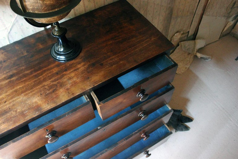Estate Made Cherrywood and Mahogany Chest of Drawers, circa 1870 In Good Condition For Sale In Bedford, Bedfordshire