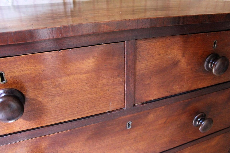 Estate Made Cherrywood and Mahogany Chest of Drawers, circa 1870 For Sale 1