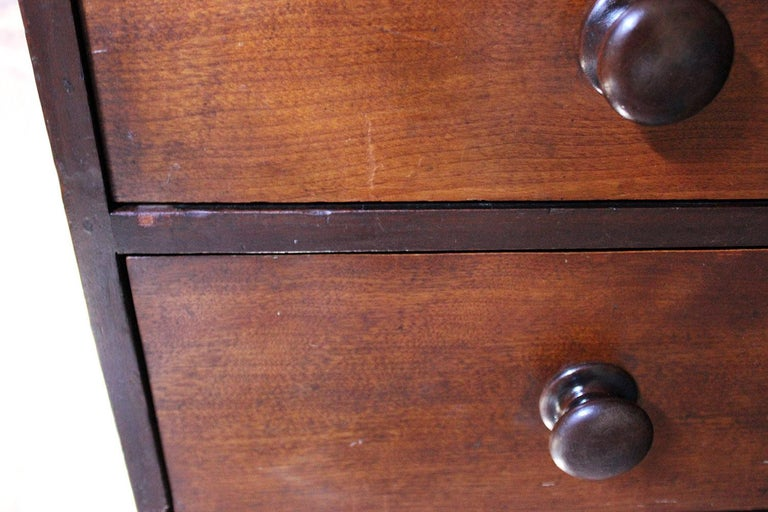 Estate Made Cherrywood and Mahogany Chest of Drawers, circa 1870 For Sale 3