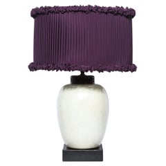 Estate of Claudette Colbert Signed Billy Haines Lamp with Illume Custom Shade