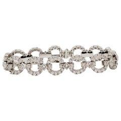 Estate Paul Pancitius White Diamond Bracelet in Platinum