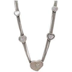 Estate Piero Milano Mother of Pearl and White Diamond Necklace
