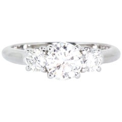 Estate Platinum 3-Stone Diamond Ring