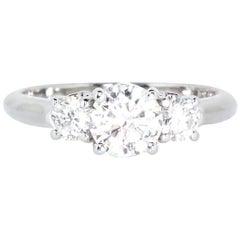 Estate Platinum 3-Stone Diamond Ring