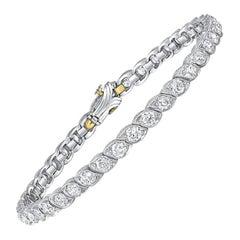"Estate Platinum Diamond Bracelet Signed ""Je Caldwell"""