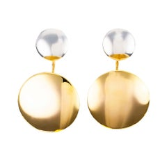 Estate Ralph Lauren Two-Tone Gold Drop Earrings