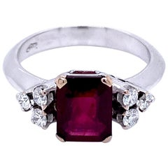 Estate Ruby Diamond Ring