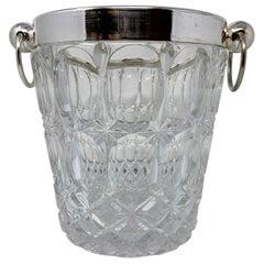 Estate Silver and Cut Glass Ice/Champagne Bucket, Circa 1940-1950
