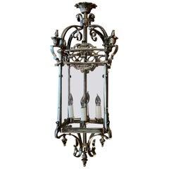 Estate Silvered Bronze Hall Lantern