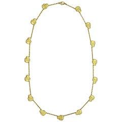 Estate Skull Gold Necklace