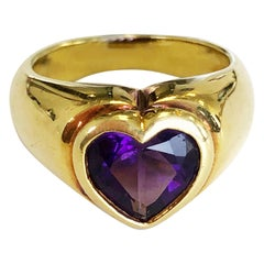 Estate Tiffany & Co. Amethyst Heart Ring