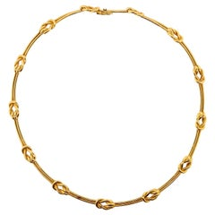 Estate Tiffany & Co. France Gold Necklace