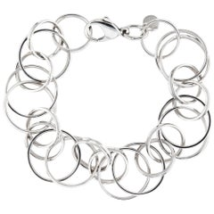Estate Tiffany & Co. Multi Circles Bracelet Sterling Silver Pre Owned Jewelry