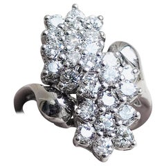 Estate Vintage 2.00 Carat VS Diamond Cluster Cocktail Spray Ring