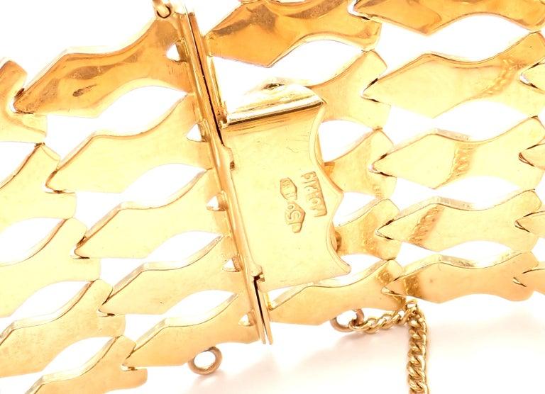 Estate Wide Yellow Gold Link Bracelet For Sale 4
