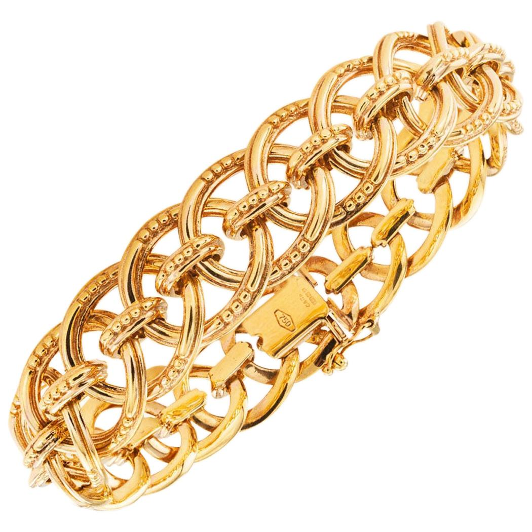 Estate Yellow Gold Link Bracelet
