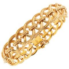 Estate Yellow Gold Link Bracelet