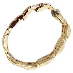 Estate Yellow Gold Link Bracelet in 14 Karat