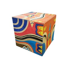 Esteban Cruz Acrylic on Cardboard Decorative Cube
