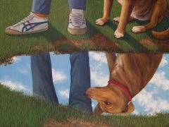 Dog's Reflection