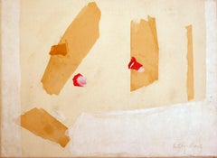 """""""Untitled"""" Collage paper on canvas 1986,  20th Century American  Esteban Vicente"""