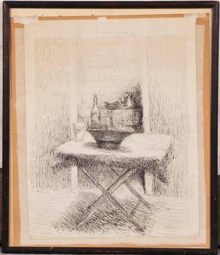 Esteban Vincente Pen and Ink Drawing - Still Life, 1934 For Sale 1