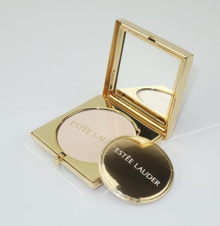 Estee Lauder Evening Art Deco Powder Compact For Sale 3