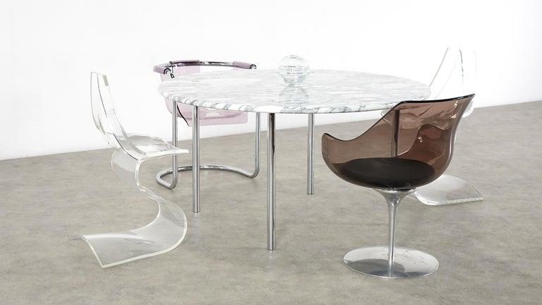 Estelle & Erwin Laverne Carrara Marble Dining Table Laverne International 1951 For Sale 5