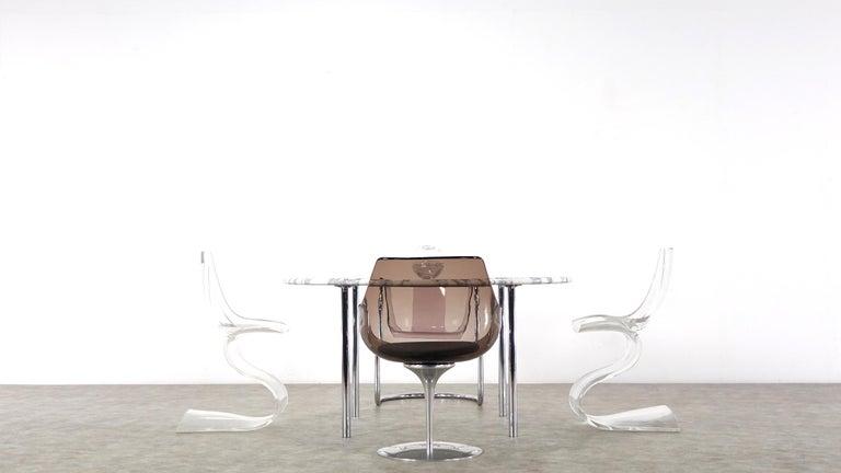 Estelle & Erwin Laverne Carrara Marble Dining Table Laverne International 1951 For Sale 6