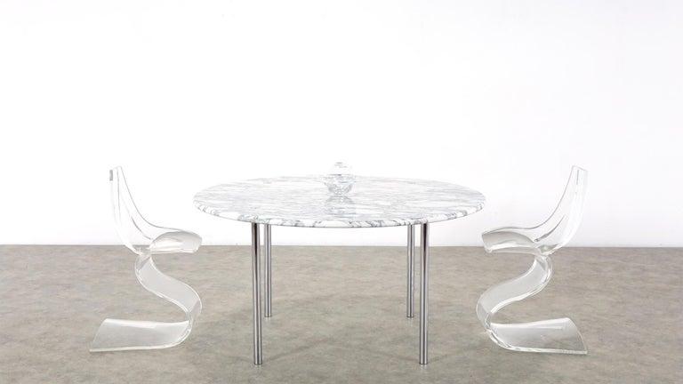 Estelle & Erwin Laverne Carrara Marble Dining Table Laverne International 1951 For Sale 7