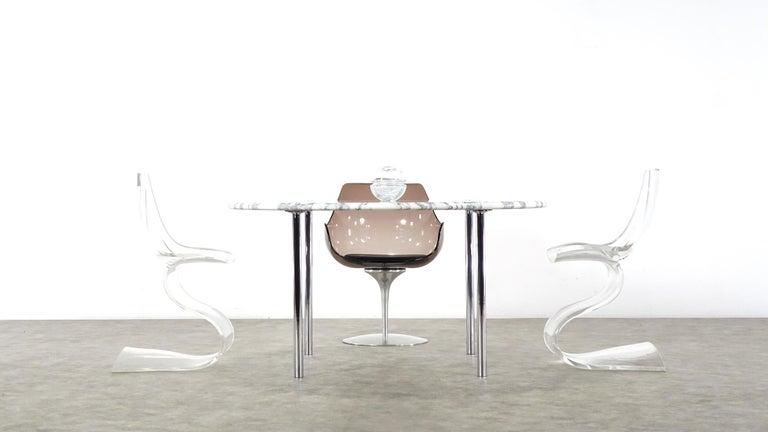 Estelle & Erwin Laverne Carrara Marble Dining Table Laverne International 1951 For Sale 9