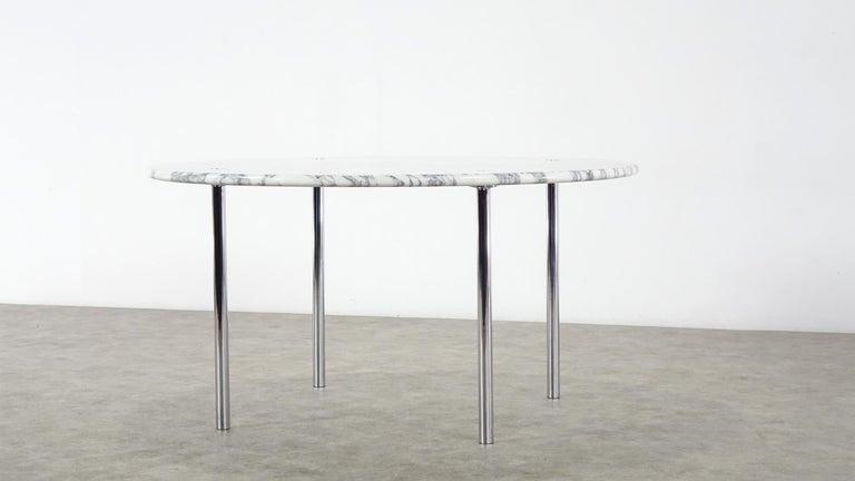 Estelle & Erwin Laverne Carrara Marble Dining Table Laverne International 1951 For Sale 1