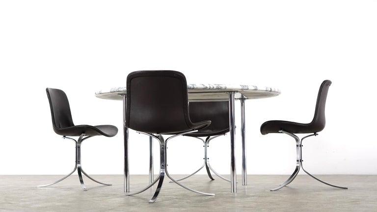 Estelle & Erwin Laverne Carrara Marble Dining Table Laverne International 1951 For Sale 3