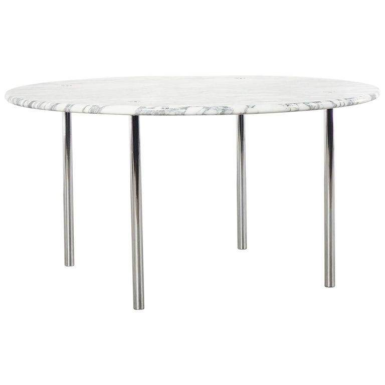 Estelle & Erwin Laverne Carrara Marble Dining Table Laverne International 1951 For Sale