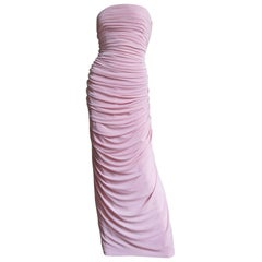 Estevez New Strapless Column Gown 1970s