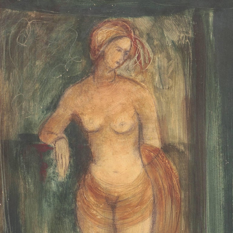 Standing Nude   (Modernism, Mid-century, Woman Artist, San Francisco, Oakland) - Print by Esther Fuller