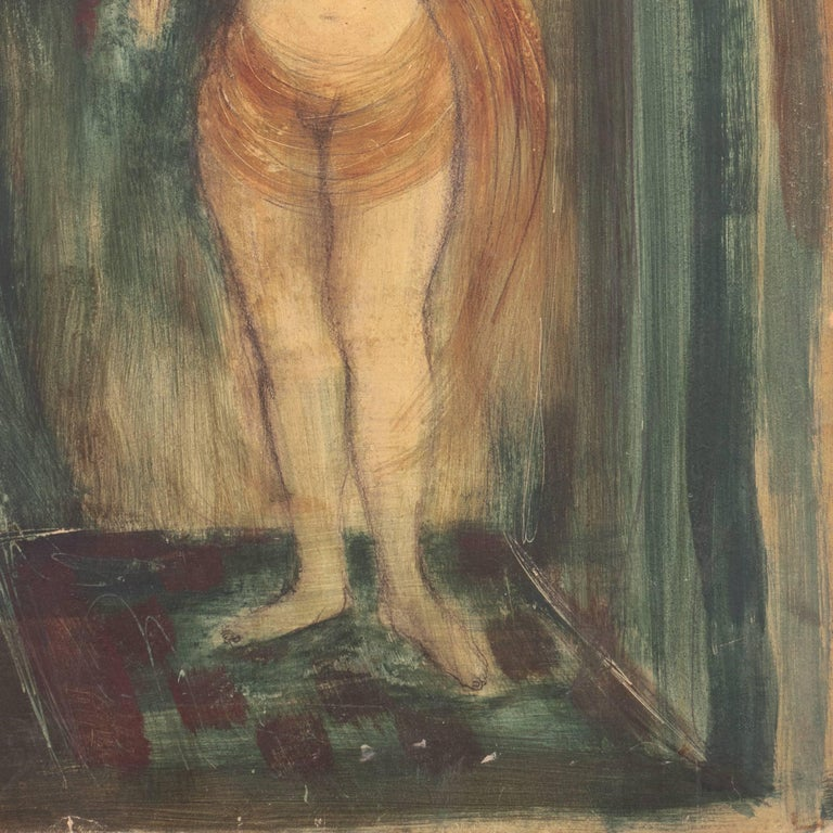 Standing Nude   (Modernism, Mid-century, Woman Artist, San Francisco, Oakland) For Sale 3