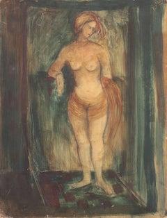 Standing Nude   (Modernism, Mid-century, Woman Artist, San Francisco, Oakland)