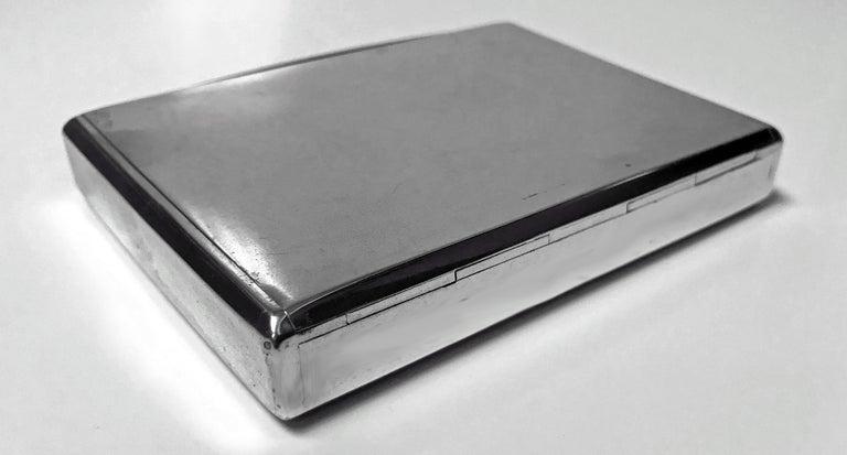 Estonian Silver Cigarette Case, Estonia, circa 1925 In Good Condition For Sale In Toronto, ON