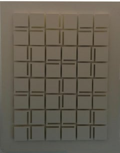 Modular Structure, Pop Mixed Media White PVC Abstract Wall Sculpture 1974