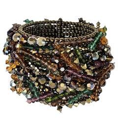 Estyn Hulbert Swarovski Crystal One of a Kind Chaos Cuff Bracelet