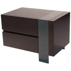 ET-22 End or Bedside Table with Two Drawers by Antoine Proulx