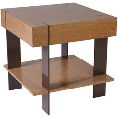 ET-23S End Table with Shelf and Metal Legs by Antoine Proulx