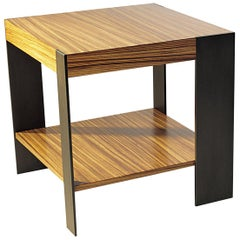 ET-33S End Table with Shelf and Metal Legs by Antoine Proulx