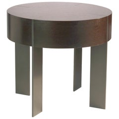 ET-93 Round End Table with Metal Legs by Antoine Proulx