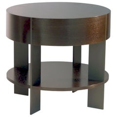 ET-93S Round End Table with Shelf and Metal Legs by Antoine Proulx