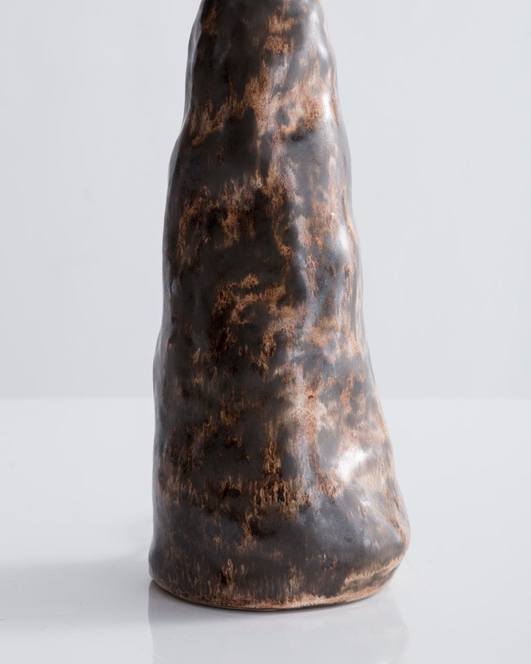 French E.T. Table Lamp in Handmade Ceramic and Hand Blown Glass by Pierre Yovanovitch For Sale