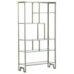 Etagere, Chrome and Glass, Design Institute America