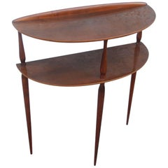 Étagère Shelves Console in Mahogany Mid-Century Italian Design, 1950s