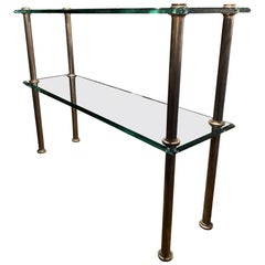 Étagère, Shelving Stand in Glass / Brass, 1940s, France